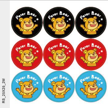 熊LOGO貼紙-2.5公分