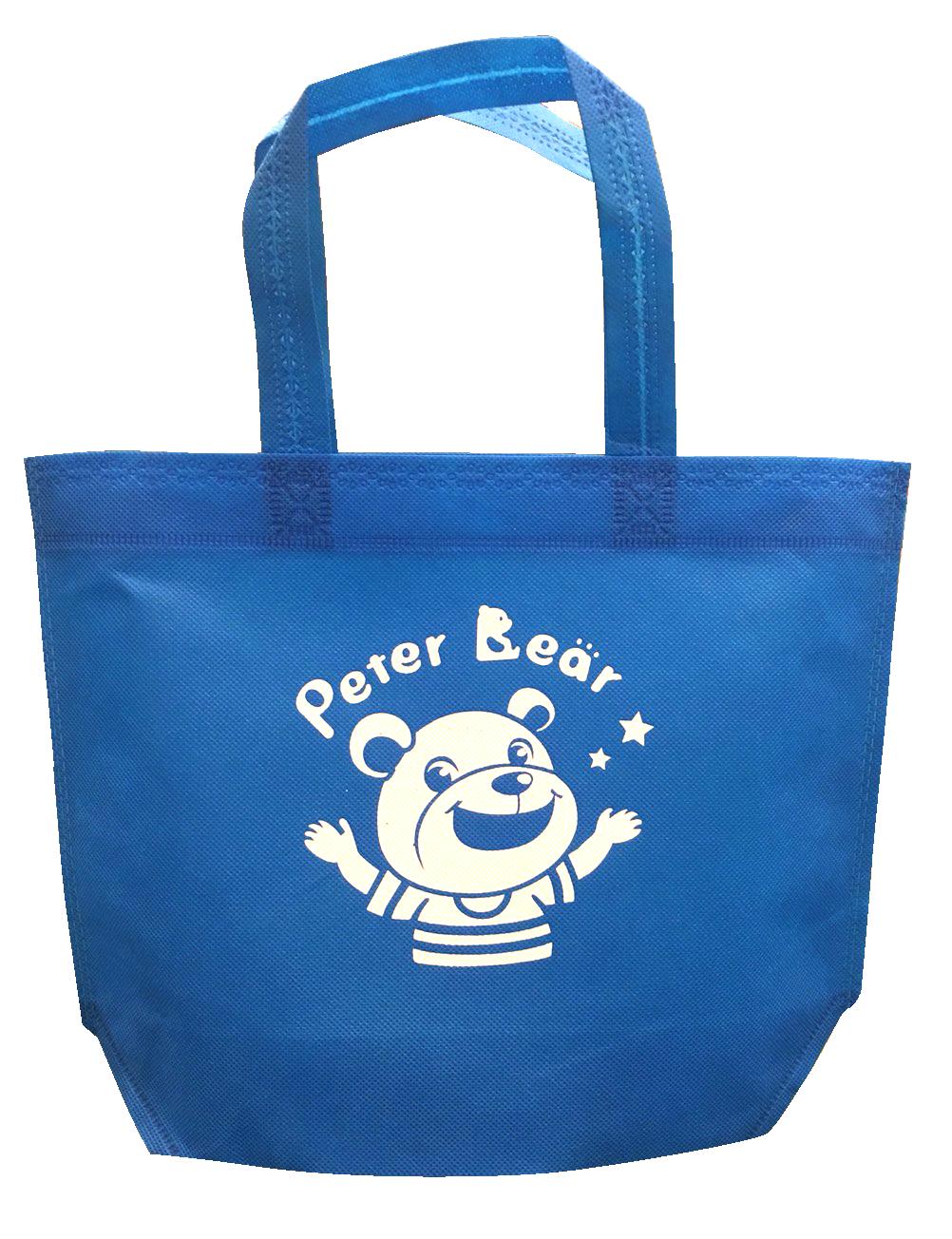 藍色手提袋-彼得熊