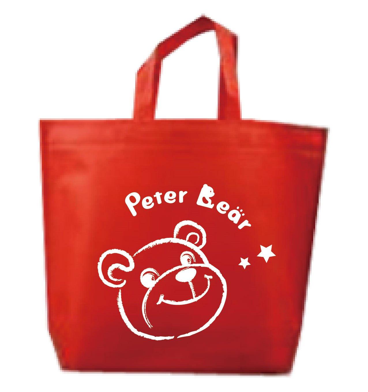 紅色手提袋-Peter Bear